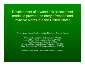 powerpoint (pdf) - Center for Invasive Plant Management