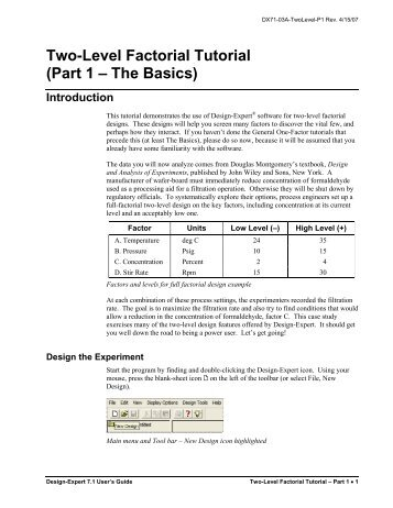 Two-Level Factorial Tutorial (Part 1 – The Basics) - Statease.info