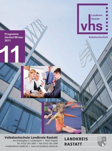Programm Herbst/Winter 2011 - VHS Landkreis Rastatt