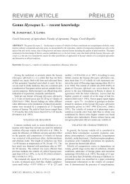 REVIEW ARTICLE PŘEHLED - Agricultural Journals