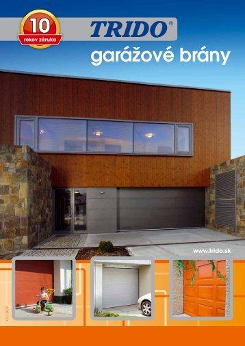 garážové brány - Garážová vrata Trido