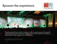 Download the Sponsor Prospectus - Great Place to Work Institute