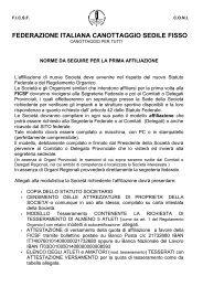 Regole e Affiliazione - Federazione Italiana Canottaggio Sedile Fisso