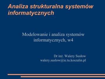 Analiza strukturalna systemów informatycznych - Koszalin
