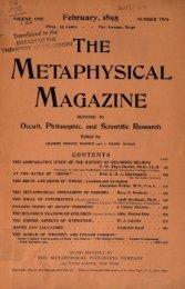 The Metaphysical Magazine Vol I Issue 2 - Swami Vivekananda