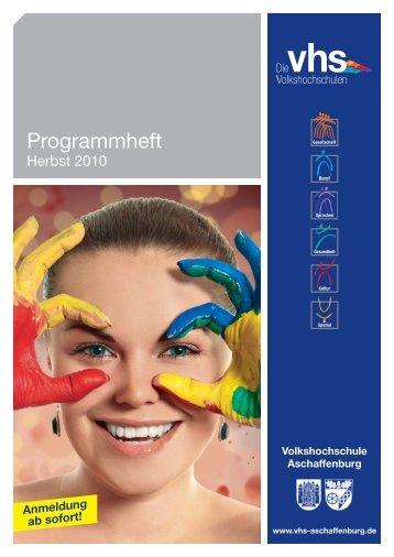 Programmheft - Volkshochschule Aschaffenburg