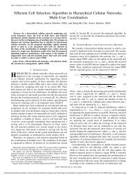 Efficient Cell Selection Algorithm in Hierarchical Cellular ... - KAIST