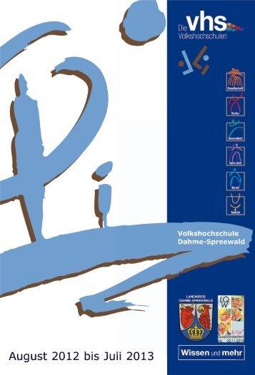 Programmheft 2012-2013 31052012 mit Balken. - Volkshochschule ...