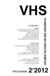 VHS-Programm 2. Halbjahr 2012 - Volkshochschule Dülmen ...