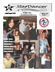 July/August 2009 Newsletter - SouthernStar Home