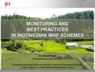 monitoring and best practices in indonesian mhp schemes