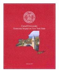 Economic Impact on New York State - Land Grant - Cornell University