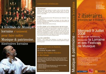 Bulletin d'inscription Itinéraires lorrains2008 - CD Baroque - K617