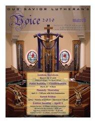 Lenten Services Palm Sunday ~ Confirmation Maundy Thursday ...