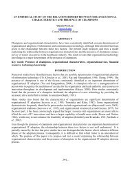 An Empirical Study of the Relationship between Organizational ...