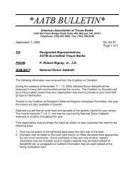 AATB BULLETIN - American Association of Tissue Banks