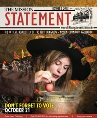 DON'T FORGET TO VOTE OCTOBER 21 - Cliff Bungalow-Mission ...