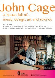A house full of... music, design, art and science - Hochschule für ...