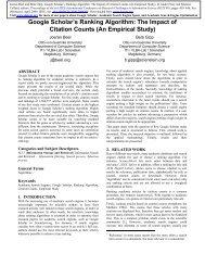 Google Scholar's Ranking Algorithm: The Impact of Citation ... - Docear