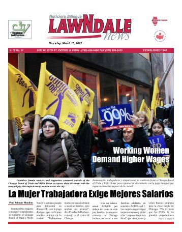 La Mujer Trabajadora Exige Mejores Salarios - Lawndale News