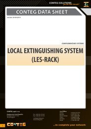 LOCAL EXTINGUISHING SYSTEM (LES-RACK) - Conteg