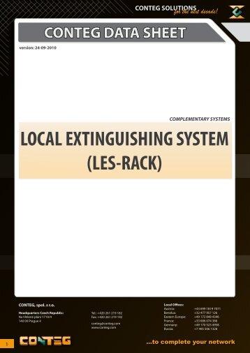 LOCAL EXTINGUISHING SYSTEM (LES-RACK) - Conteg
