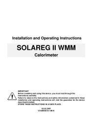SOLAREG II WMM - SEG Solar Energy GmbH