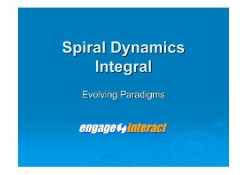 Spiral Dynamics Integral - Chaosforum