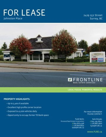Download Brochure - Frontline Real Estate Frontline Real Estate