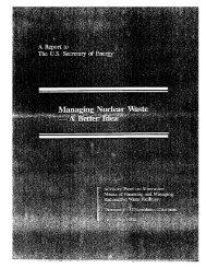 office of civilian radioactive waste management - Blue Ribbon ...
