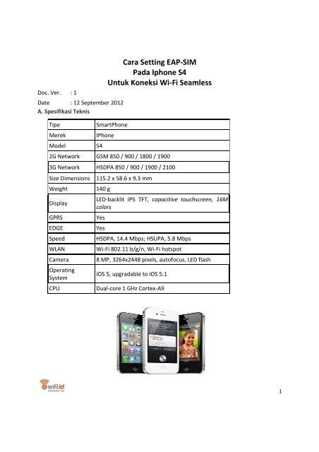 Cara Setting Eap Iphone S4 Wifi Seamless