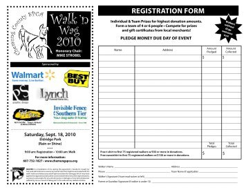 registration Form - Chemung County SPCA