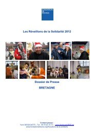 Réveillons de la Solidarité en Bretagne - Fondation de France