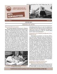 June 2011 - Indian Institute of Public Administration