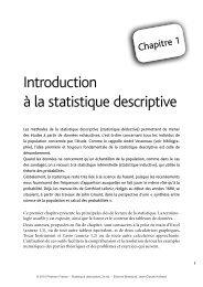 Introduction à la statistique descriptive - Pearson