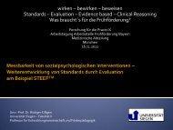Das STEEPTM-Programm - Arbeitsstelle Frühförderung Bayern