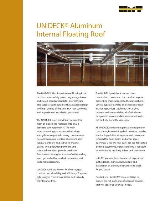 Unideck Aluminum Internal Floating Roof Hmt