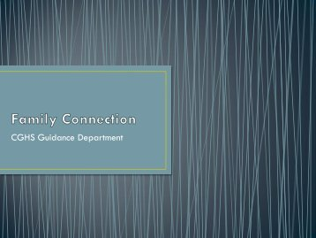 Family Connection - Center Grove Community School Corporation