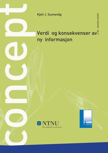 13 Verdi og konsekvenser av ny informasjon - Concept - NTNU