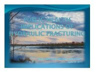 Public Health Implications of Hydraulic Fracturing - SUNY Upstate ...