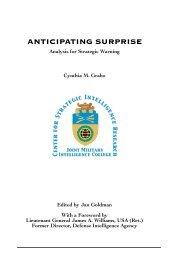 anticipating surprise - Higgins Counterterrorism Research Center