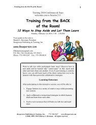 Training from the BACK of the Room! - Sharon Bowman