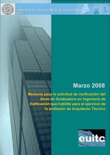 Marzo 2008 - Escuela de Arquitectura e Ingeniería de Edificación