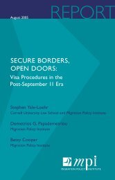 SECURE BORDERS, OPEN DOORS: - Migration Policy Institute