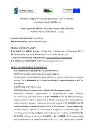Radziejów: Zorganizowanie i przeprowadzenie kursu w kierunku ...