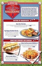 BATTER UP BREAKFASTS HOME RUN LUNCHES AND DiNNERS