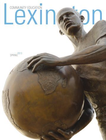 to download Lexington Community Educations new Spring 2013