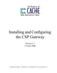 Installing and Configuring the CSP Gateway - InterSystems ...