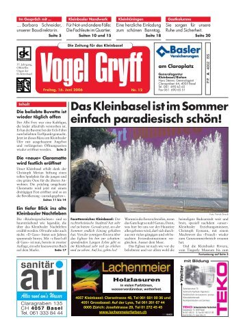 16. Juni 2006 - Vogel Gryff