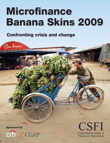 Microfinance Banana Skins 2009 Microfinance Banana Skins 2009 - Le ...
